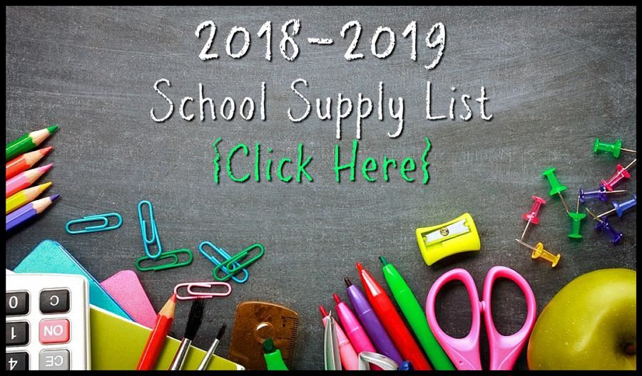 2018 - 2019 Supply Lists